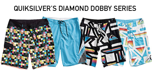Diamond Dobby Technology: New Quiksilver Boardshorts