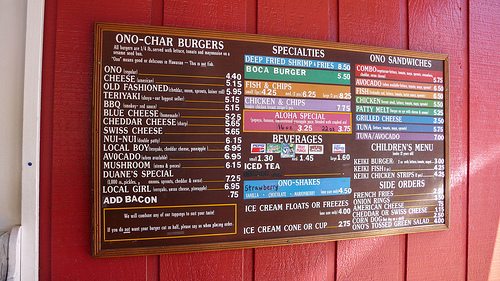 Duane's Ono Char-Burger on The Island of Kauai